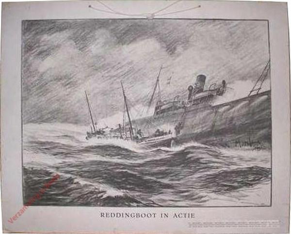 Reddingboot in actie